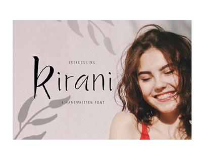 Kirani - A Handwritten Font