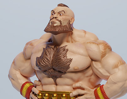 Zangief for 3D Print 1/6 Scale Statue