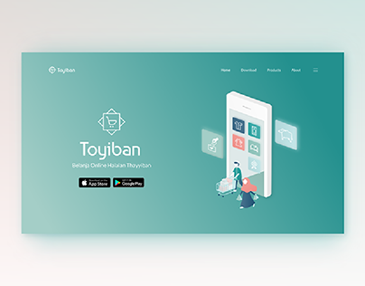 Toyiban E-Commerce Landing Page Header