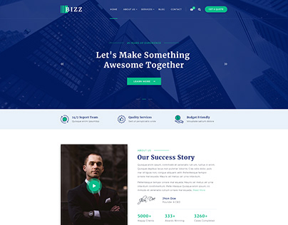Business Consulting and Agency PSD Template