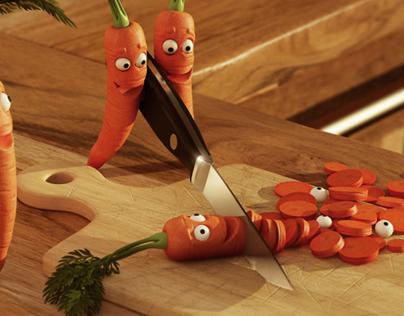 Поделка из моркови ракета