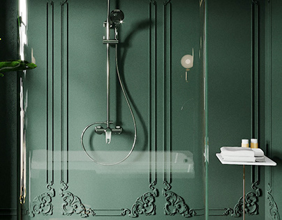 MIDNIGHT GREEN BATHROOM