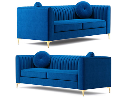Isabelle Velvet Sofa Meridian Furniture 3D model
