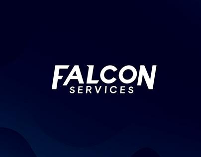 Criação de logo Falcon Services