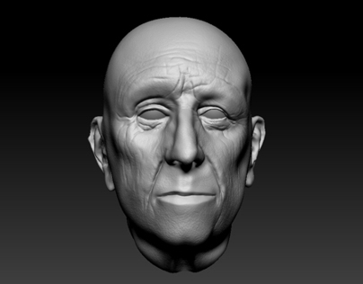 Realistic head done in Zbrush.