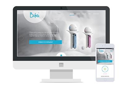 Boka - landing page website, identity