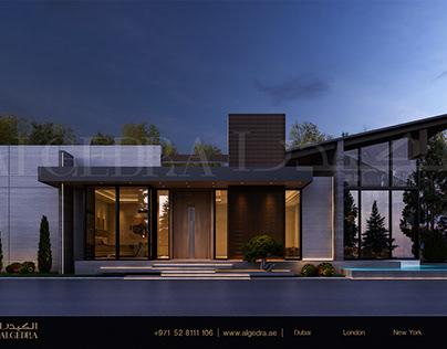 Ultra Modern Style Villa Exterior Design by ALGEDRA