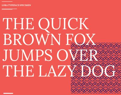 Lora - Typeface Specimen