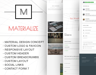 Materialize - creative and freemium WordPress Theme