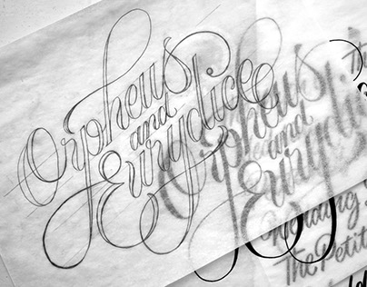"Title Lettering of ""Orpheus & Eurydice"" Film for Gucci"