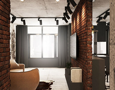 Дизайн интерьера для квартиры 78 м2