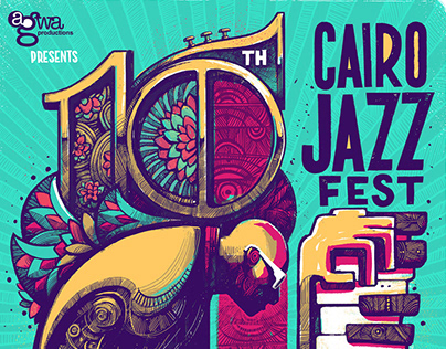 10th Cairo Jazz Festival: poster design