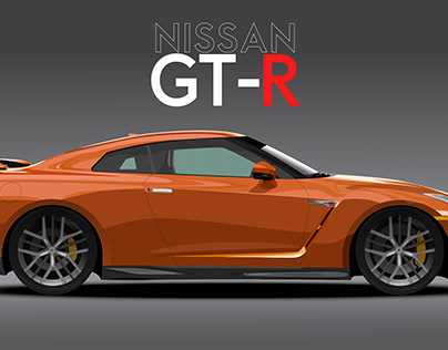 Nissan GT-R Vector art