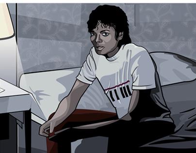 Michael Jackson Illustration Opus book