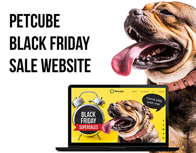 Landing page for Petcube Black Friday Sale