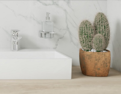Guest bathroom and toiler #marble #wood