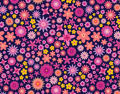 Flower Explosion Repeat Pattern