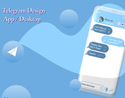 Telegram App Redesign (Animation- interaction design)