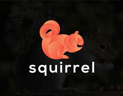 squirrel logo, squirrel logo design, logo folio