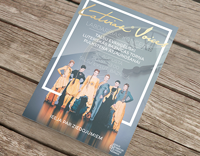 Latvian Voices Concert Flyer