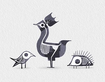 Calligraphy Animal X-rays