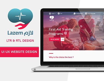 UI UX Website For First Aid Training RTL-LTR Design