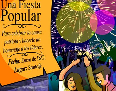 Infografía Una Fiesta Popular