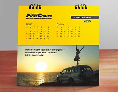 MAhindra First Choice Calendar 2015