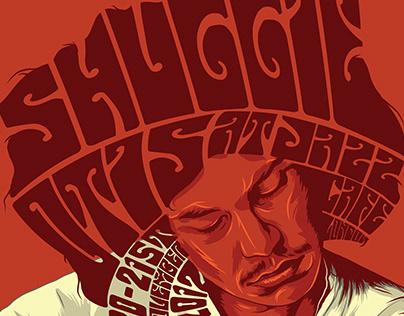 """""""Shuggie Otis At Jazz Cafe"""" Gig Poster"""