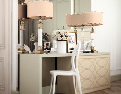 Interior design by Vitta-group . Bedroom