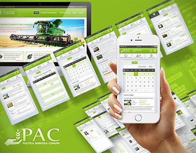 PAC - Politica Agricola Comune ui/ux design,branding