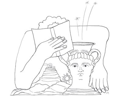guia mínimo dos clássicos   editorial illustration
