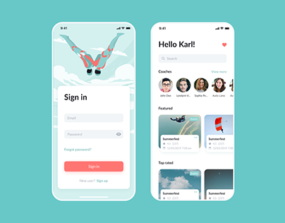 Skydiving Mobile App