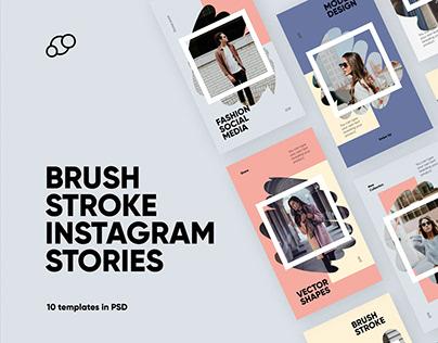 Brush Stroke Instagram Stories Template
