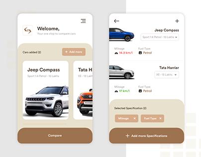 Car Comparison App | UI/UX Project