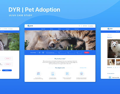 DYR | Pet Adoption Website | UI/UX Design