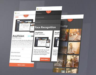 Microsoft Israel Solutions mobile web design
