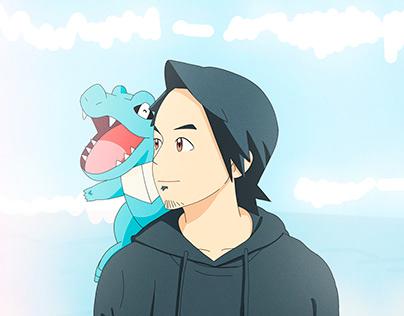 Anime and Cartoon Portrait Style