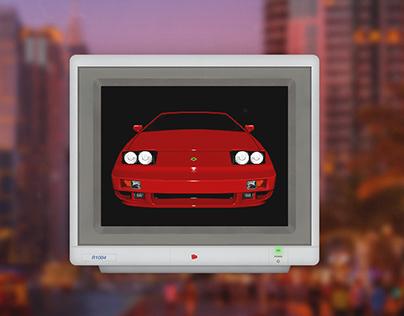 CRT monitor overlay