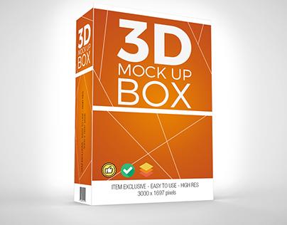 3D Product Box Mock-up