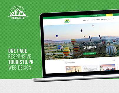Touristo.Pk - Responsive Website's UI/UX
