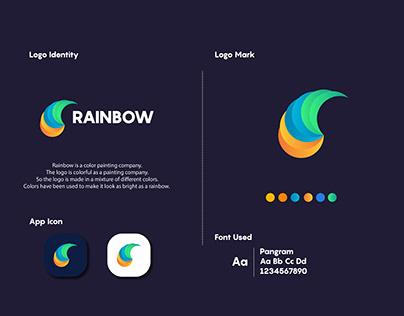 rainbow logo - modern logo - creative logo