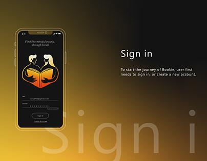 Bookie App Design