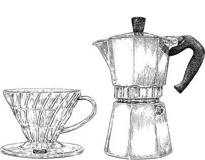 Coffee Brewing Methods Print