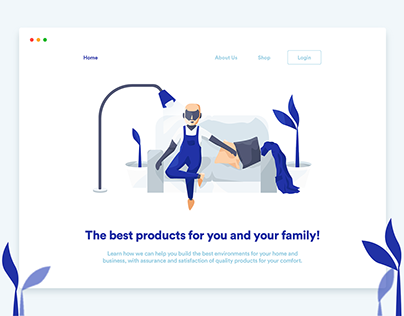 Website & Illustrations   Dream Shop