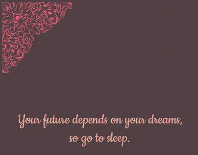 Go Sleep :P