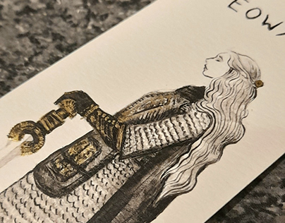 Éowyn - Lord of the Rings Ink Illustration