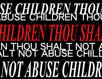 Thou shalt not abuse children