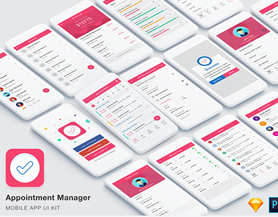 Appointment Manager App UI Kit