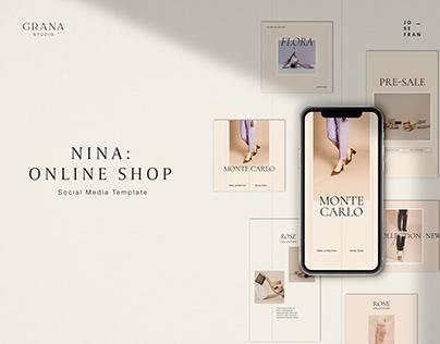NINA: Online Shop Social Media Template